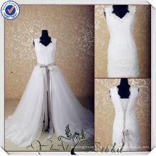 JJ3565 Cap рукавом съемная юбка короткий съемный поезд свадебное платье съемный юбка