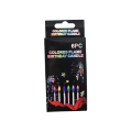 Dekoracja Party Birthday Cake Kolor Flame Candle