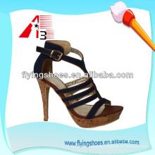 Fábrica 2015 de la porcelana para los zapatos de las mujeres del alto talón de las señoras