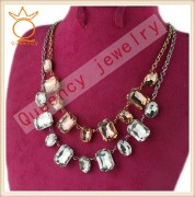 China factory acrylic stone jewelry for Eruopean garment necklace