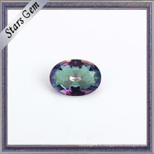 Beau verre de cristal de couleur d'arc-en-ciel de galvanoplastie pour des bijoux