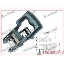 "1-1/4""-33mm Wide Rubber Handle Small Ratchet Belt Buckle"