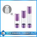 Bouteille sans air de pompe de lotion de bouteille de PETG Airless 15ml de bouteille sans air de lotion de forme