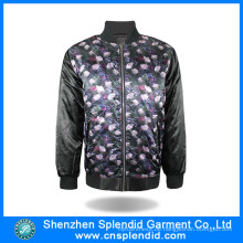 Großhandelswinter-bunte Blumen-Vlies-Jacken für Männer mit Reißverschluss