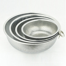 5-quart metal  kitchen accessories stainless steel vegetable bowl colander
