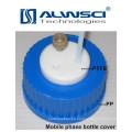 tapa de rosca azul de material PTFE PP para botella de reactivo