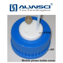 fase móvil de la tapa de la botella análisis laboratoray