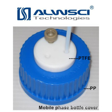 blue screw cap of PTFE PP material for reagent bottle