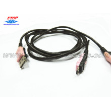 Double colored USB cable