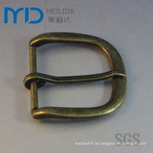 Forma grande d moda masculina cintos de fivela pin na cor de bronze antigo (45mmx46mm)