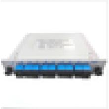 1X8 divisor ótico da lâmina, PLC portador-classe divisor óptico da fibra SC / UPC, divisor do 1 x 8 plc
