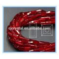 Grânulos de retângulo de vidro solto contas de vidro 10-11mm