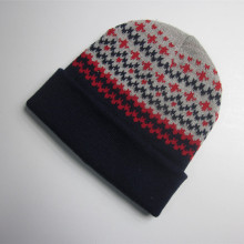 Colorful Acrylic Jacquard Knit Hat