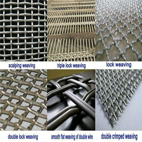 white steel lea de crimped wire mesh