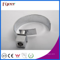 Fyeer Chrome Modern Crooked Wide Spout Waterfall Wash Basin Faucet Water Mixer Tap Wasserhahn