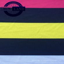 Tejido de malla de poliéster spandex en un solo tipo de jersey