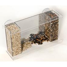Alimentador de aves de ventana de acrílico de alta calidad con bandeja de alimentación