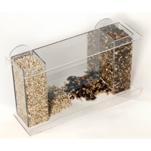 High Quality Acrylic Window Bird Feeder with Feed Tray