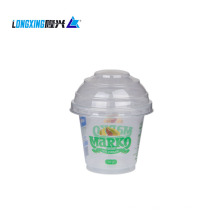 6oz transparent plastic PP cup with PET lid for ice cream
