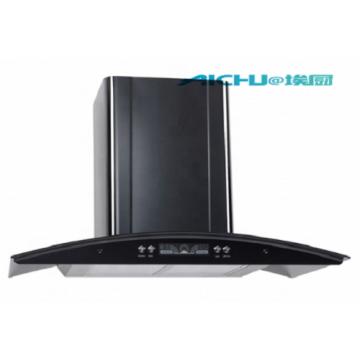 Black slim cooker hood