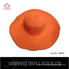 Orange Folding Sun Hat pour dames 2014 Nouveau design