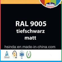 De alta calidad Ral Color Ral 9005 Jet negro en polvo de recubrimiento