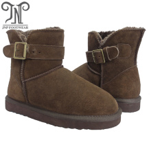 Cheapest Price for Womens Winter Boots,Womens Leather Winter Boots,Womens Waterproof Snow Boots Manufacturer in China Women brown suede furry snow classic ankle boots supply to Guyana Exporter