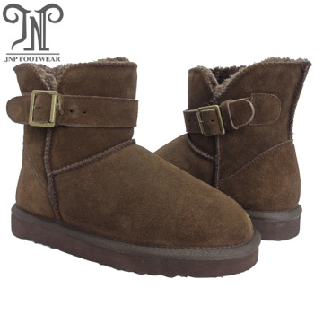 Goods high definition for Womens Winter Boots Women brown suede furry snow classic ankle boots supply to Mauritania Manufacturers