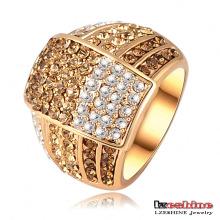 18k oro plateado mujeres anillos (Ri-HQ0020)