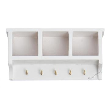 1/12 Scale Dolls' House Wall Shelf Storage Baskets