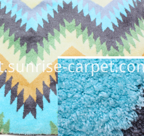polyester more density with design carpet