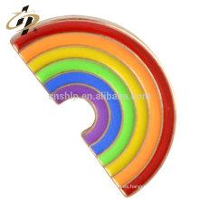 Fundición a presión fundición de aleación personalizada broches de metal del arco iris