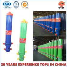 Cylindre hydraulique télescopique à plusieurs étages pour l'extraction du cylindre de camion à benne basculante