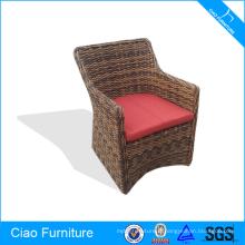 Chaise demi-ronde en osier