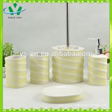 Fancy design white ceramic baby bath set