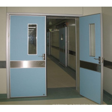 Doble puerta automática hermética con sensor de pies