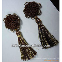 knot decoration tassel,car decorative tassel,polyester tassel