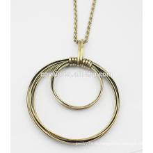 Bronze runde hängende Halskette Metalllegierung Weinlese große Bronzehalskette
