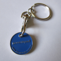 Promotionnel Zinc alliage Trolley Coin Keyring & trousseau