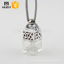 High Quality 5ml square shape glass perfume hanging car diffuser bottle