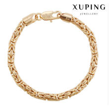 74478 Fashion Cool 18k pulsera de joyería de imitación chapada en oro en aleación de cobre