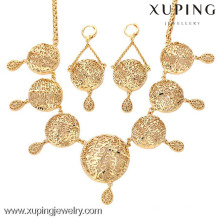 62855-Xuping Fancy Fake Gold Jewelry Set bisutería al por mayor de joyería