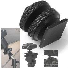 Tornillo negro profesional plateado cinc de la cámara del trípode de 1/4 ''