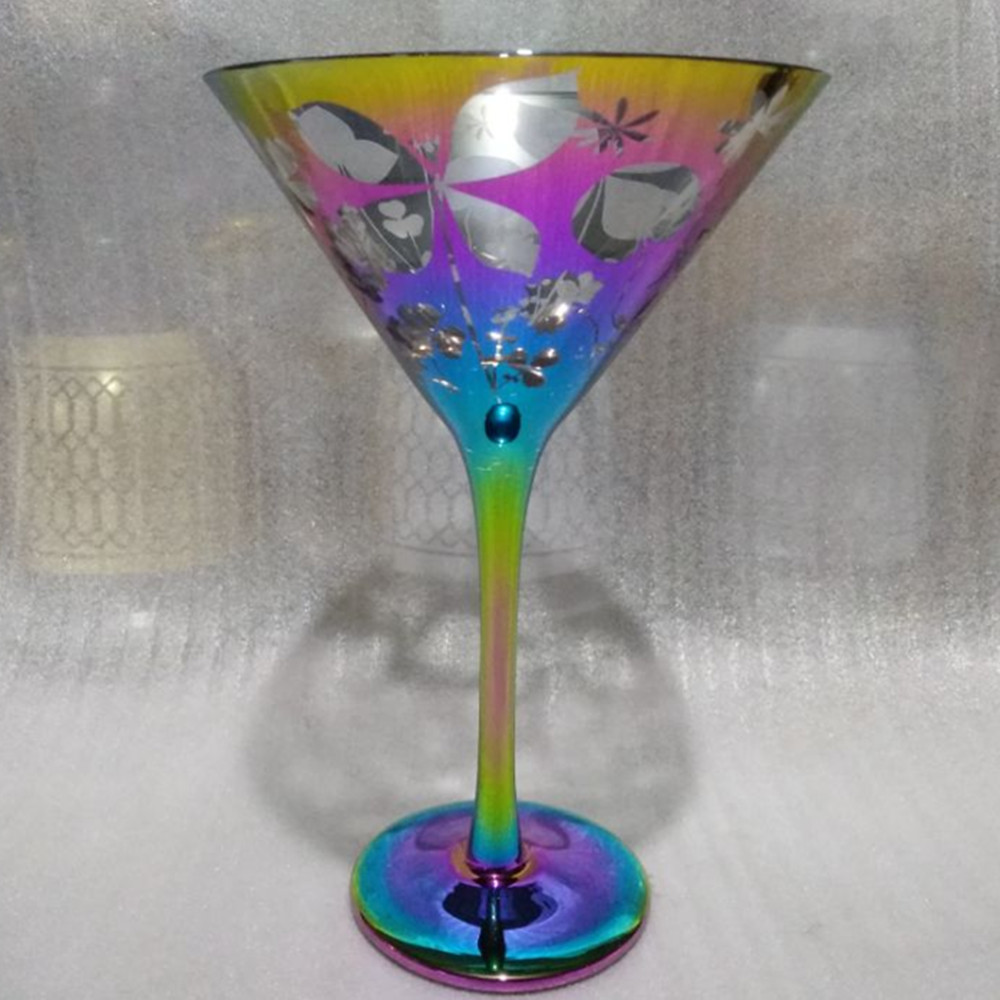 Wholesale Rainbow Goblet Wine Glass2