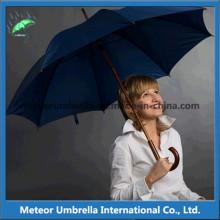 Stick Автоматический открытый рекламный солнце и дождь Деревянный зонтик