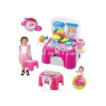 Hocker Spiel Set Spielzeug für Küche Kochen Serie