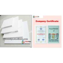 Goldensign weißes PVC-Schaum-Blatt / PVC-Celuka-Schaum-Blatt (6mm ~ 25mm)