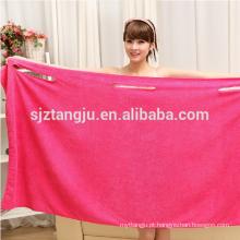 China atacadista microfibra mulheres veste toalha de banho