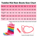 2020 New Fashion Half Calf Natural Rubber Rain boots for Kids with Lights