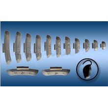 Zinc Clip-on Balance Weight for Steel Wheel (model A)